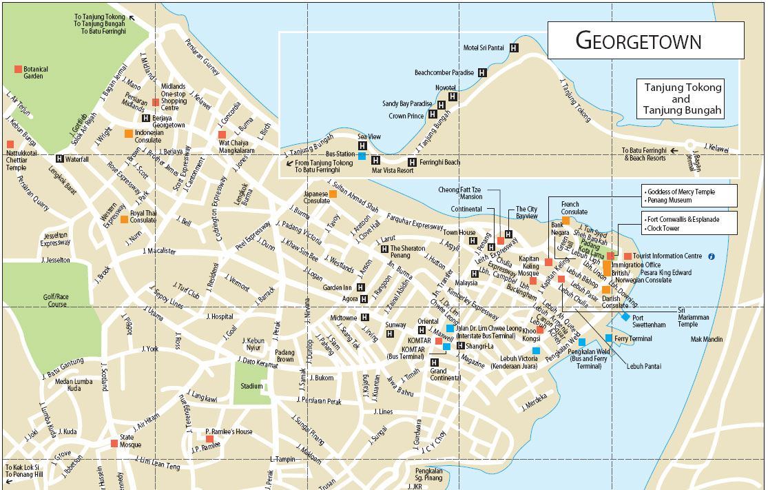 Penang malaysia cruise port of call printable map gumiabroncs Choice Image